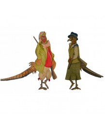 Wax Jacket and Lady Pheasant Wall Plaques