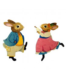 Dandelion & Digger Bunny Wall Plaques