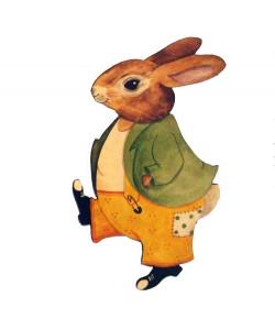 Percy Bunny Wall Plaque