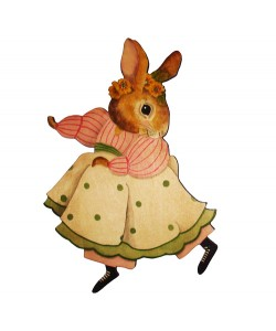 Primrose Bunny Wall Plaque