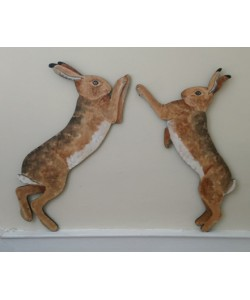 "Hares ""for the top of the stairs"" Wooden Wall Plaques"