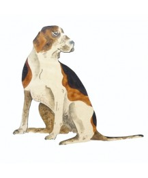 Sitting Hound Wall Plaque