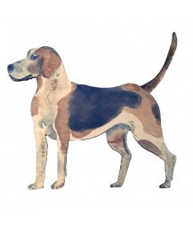 Standing Hound Wall Plaque