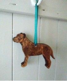 Staffie Door Hanger