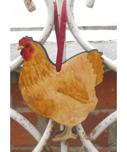 Chicken Door Hanger (Various Colours)