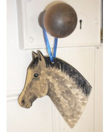Pony Head Grey Door Hanger