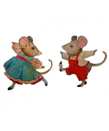 Fiona and Jimmy Mouse Wall Plaques