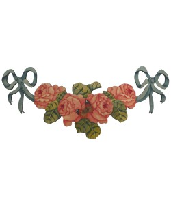 English Rose Swag Wall Plaque