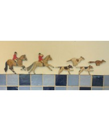 Huntsman, Rider, Fox & Hounds Wall Plaque Set