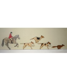 Rider, Fox & Hounds Wall Plaque Set