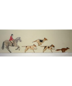 Horse, Fox & Hounds Wall Plaque Set