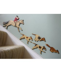 Huntsman, Fox & Hounds Wall Plaque Set