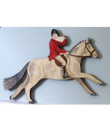 Huntsman & Horse Wall Plaque