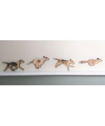 Fox & Hounds Wall Plaque Set