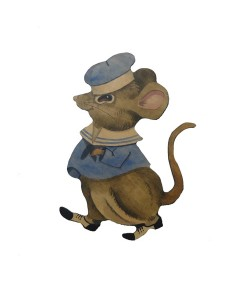 Jasper Mouse with Name Plaque