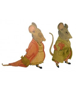 Maurice and Matilda Mouse Wall Plaques
