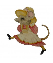 Rita Mouse Wall Plaque