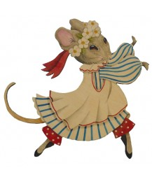 Blossom Mouse Wall Plaque