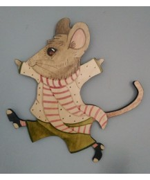 Cyril Mouse Wall Plaque