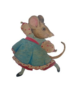 Fiona Mouse Wall Plaque