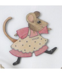 Muriel Mouse Wall Plaque
