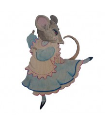 Snowdrop Mouse Wall Plaque