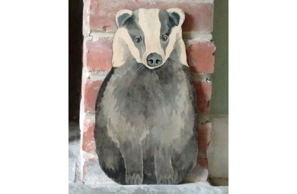 Badger Wall Plaque