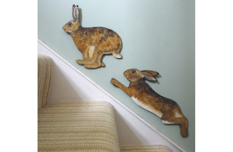 Hares on the Stairs