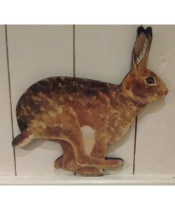 Hare Wooden Wall Plaque