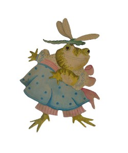 Prudence Frog Wall Plaque
