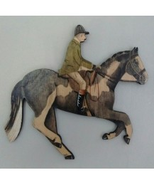 Galloping Horse & Rider Wall Plaque