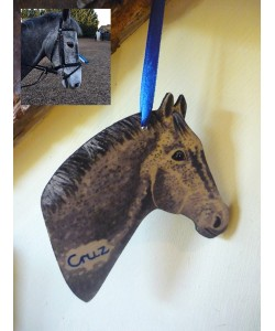 Personalised Pony Head Door Hanger