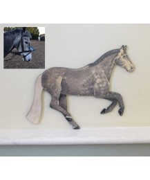 Personalised Pony Wall Plaque - Galloping