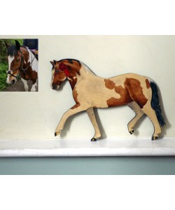 Personalised Pony Wall Plaque - Welsh