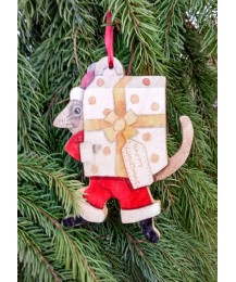 Christmas Present Mouse Tree Hanger