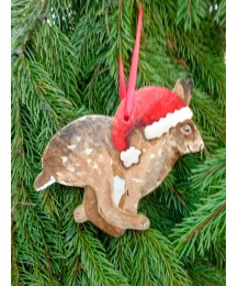 Christmas Hare Tree Hanger