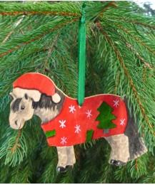 Christmas Pony Door Hanger