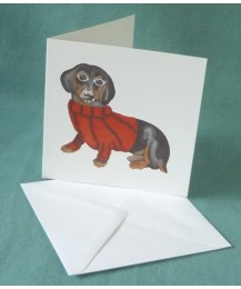 Dachshund in Jumper Card
